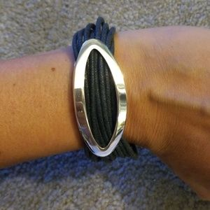 Kenneth cole silver oval and cor bracelet